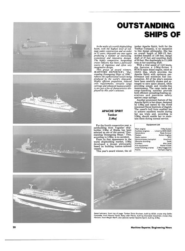 Maritime Reporter Magazine, page 18,  Dec 1990 Walter Kidde Hose-handling