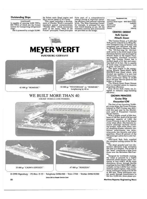 Maritime Reporter Magazine, page 20,  Dec 1990