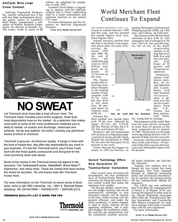 Maritime Reporter Magazine, page 8,  Jan 1991