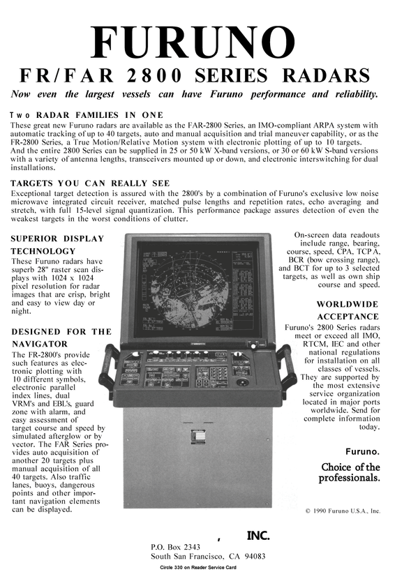 Maritime Reporter Magazine, page 17,  Jan 1991 California