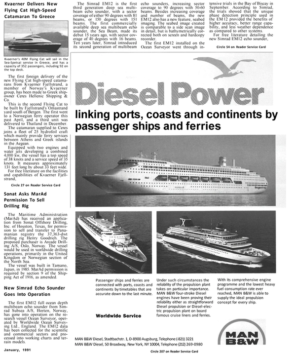 Maritime Reporter Magazine, page 27,  Jan 1991 HENRY GOODRICH