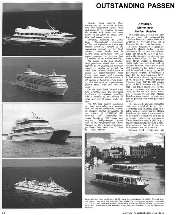 Maritime Reporter Magazine, page 28,  Jan 1991 Dick Lynn
