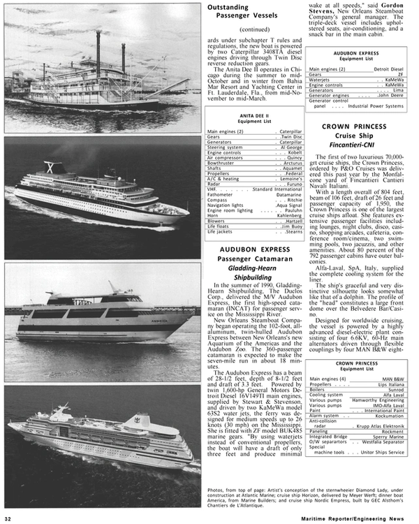 Maritime Reporter Magazine, page 30,  Jan 1991 Al George Engine