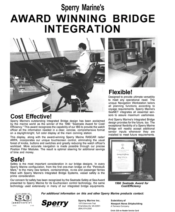 Maritime Reporter Magazine, page 43,  Jan 1991 Virginia