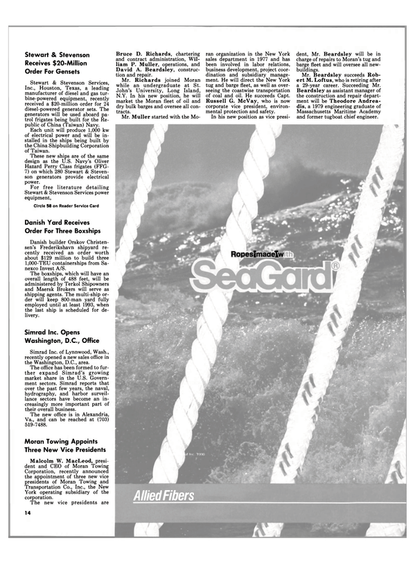 Maritime Reporter Magazine, page 12,  Feb 1991