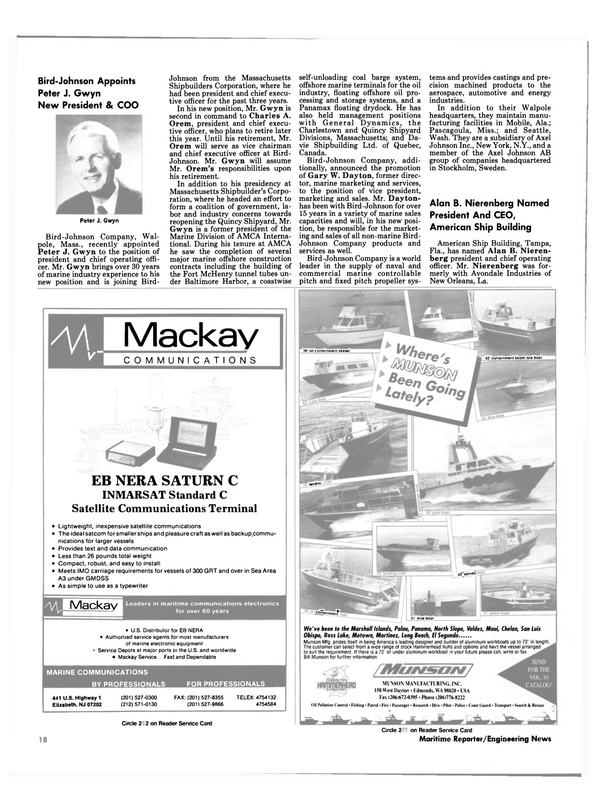 Maritime Reporter Magazine, page 16,  Feb 1991