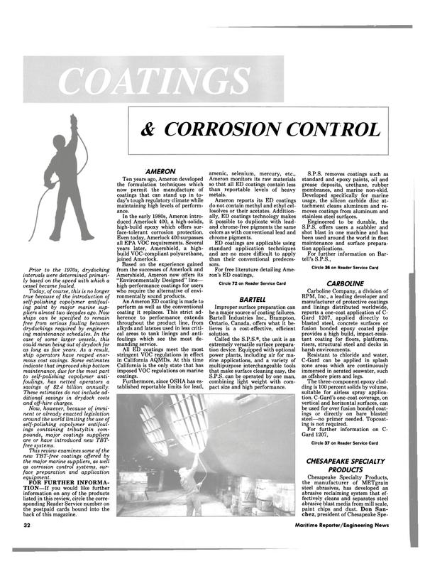 Maritime Reporter Magazine, page 30,  Feb 1991