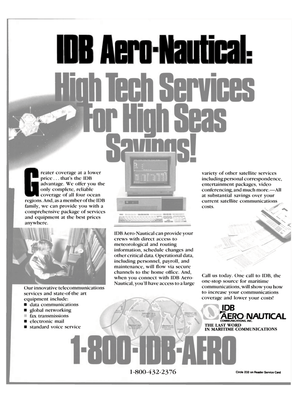 Maritime Reporter Magazine, page 37,  Feb 1991 communications coverage