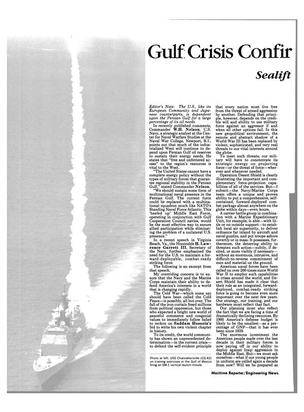 Maritime Reporter Magazine, page 38,  Feb 1991