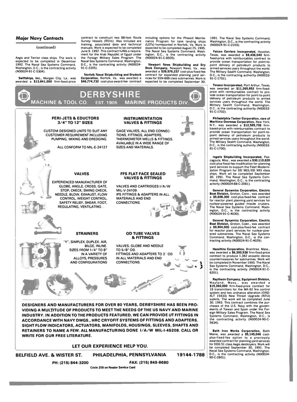 Maritime Reporter Magazine, page 46,  Feb 1991