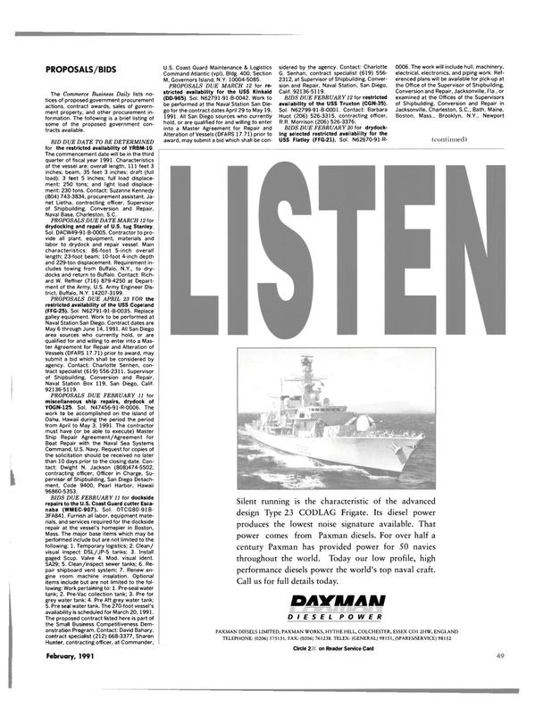 Maritime Reporter Magazine, page 47,  Feb 1991