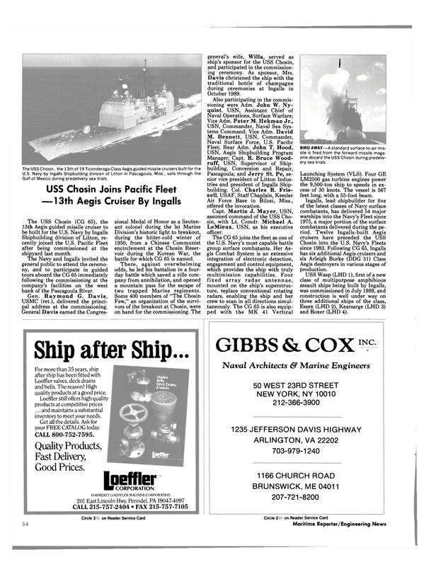 Maritime Reporter Magazine, page 52,  Feb 1991 Pennsylvania