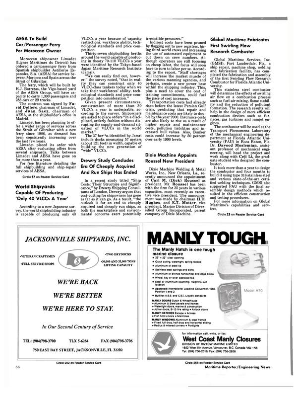Maritime Reporter Magazine, page 64,  Feb 1991