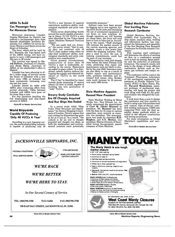 Maritime Reporter Magazine, page 66,  Feb 1991