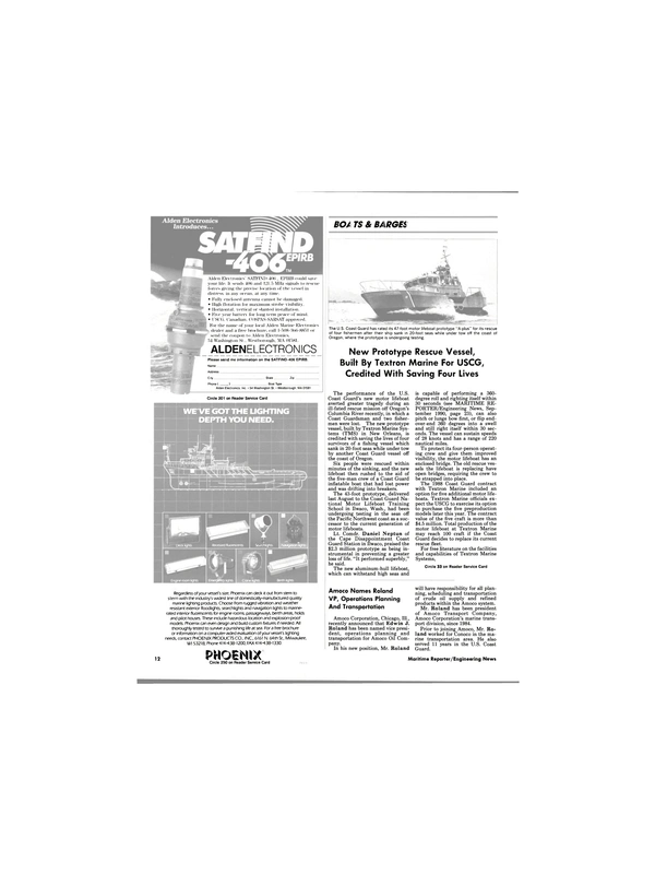 Maritime Reporter Magazine, page 11,  Mar 1991