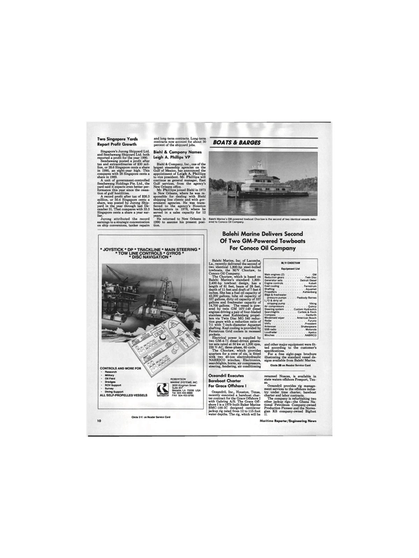 Maritime Reporter Magazine, page 8,  Apr 1991 Texas