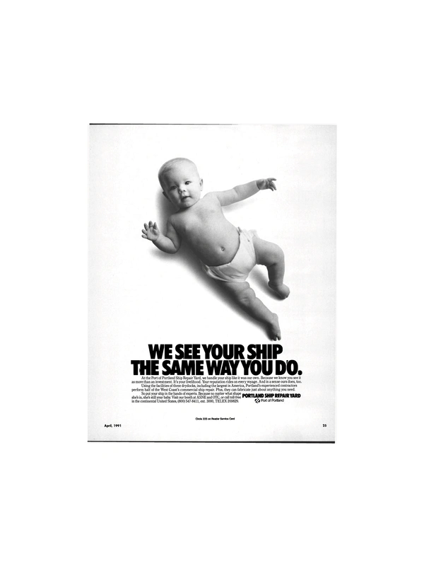 Maritime Reporter Magazine, page 23,  Apr 1991