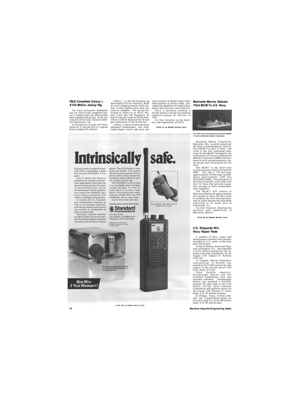 Maritime Reporter Magazine, page 8,  Nov 1991