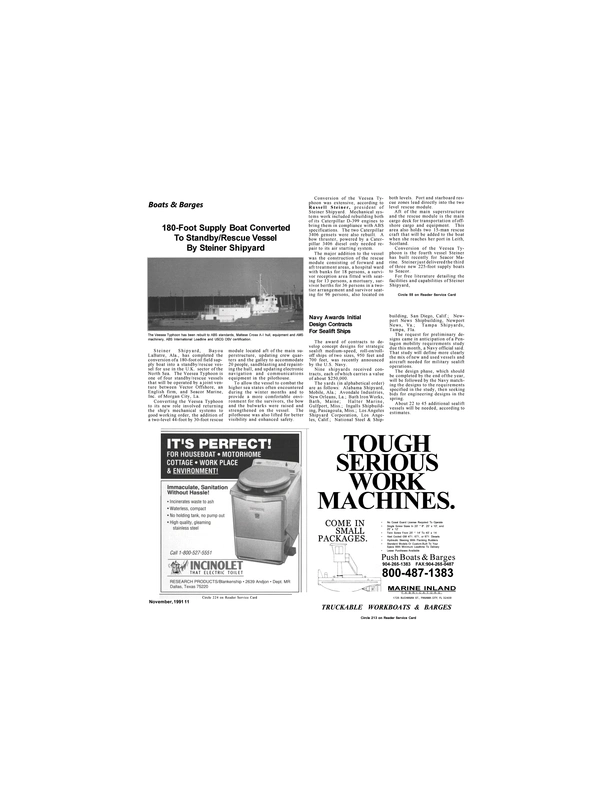 Maritime Reporter Magazine, page 9,  Nov 1991