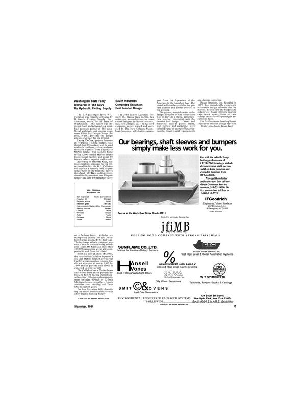 Maritime Reporter Magazine, page 11,  Nov 1991
