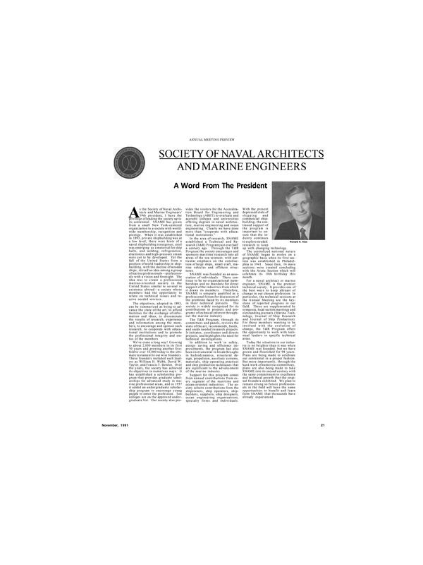Maritime Reporter Magazine, page 19,  Nov 1991