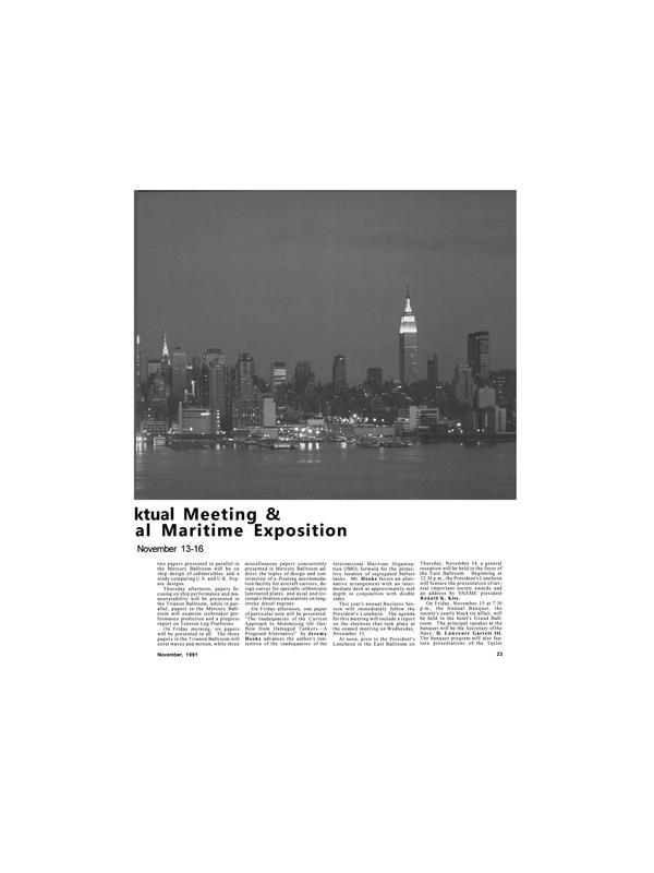 Maritime Reporter Magazine, page 21,  Nov 1991