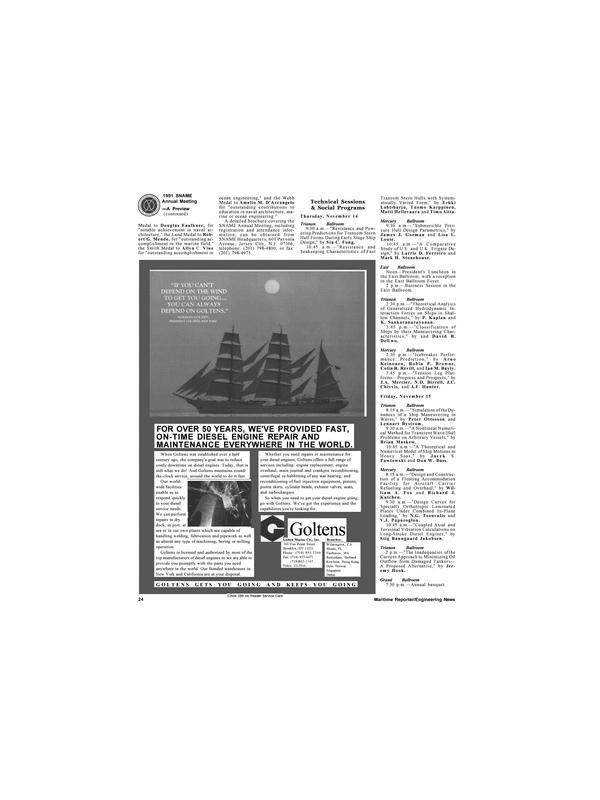 Maritime Reporter Magazine, page 22,  Nov 1991