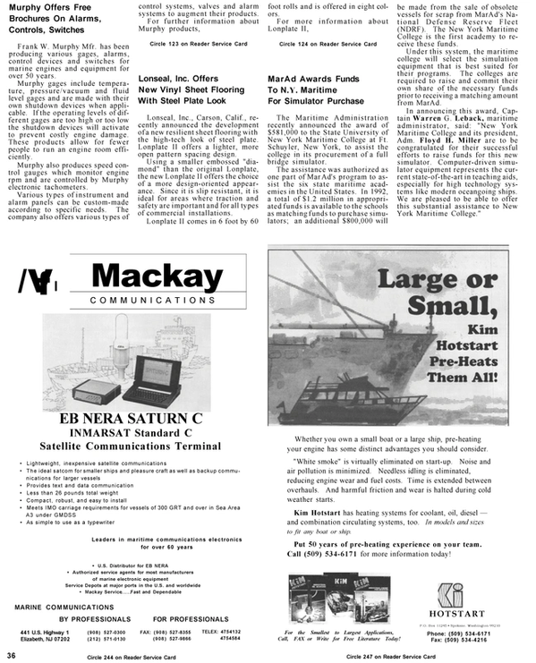 Maritime Reporter Magazine, page 36,  Mar 1992