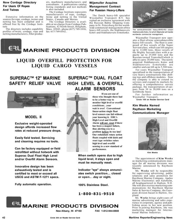 Maritime Reporter Magazine, page 42,  Mar 1992