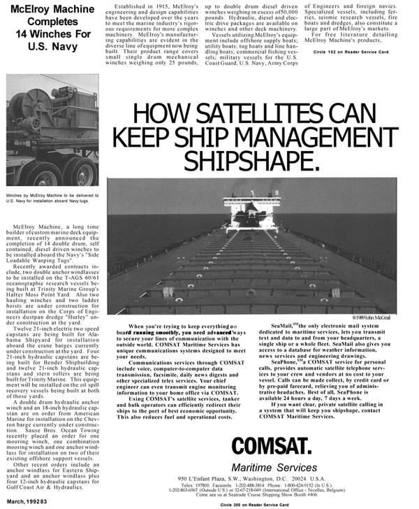 Maritime Reporter Magazine, page 51,  Mar 1992