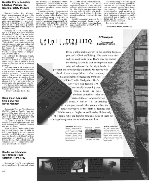 Maritime Reporter Magazine, page 54,  Mar 1992 Washington