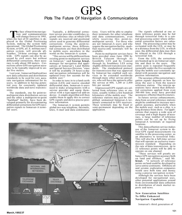 Maritime Reporter Magazine, page 57,  Mar 1992 data communications