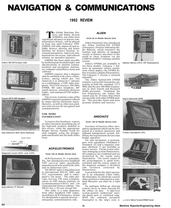 Maritime Reporter Magazine, page 64,  Mar 1992