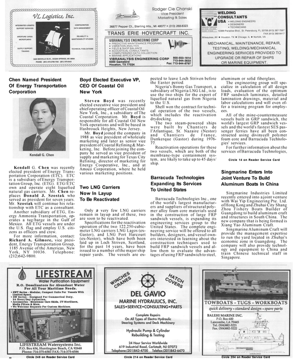 Maritime Reporter Magazine, page 80,  Mar 1992