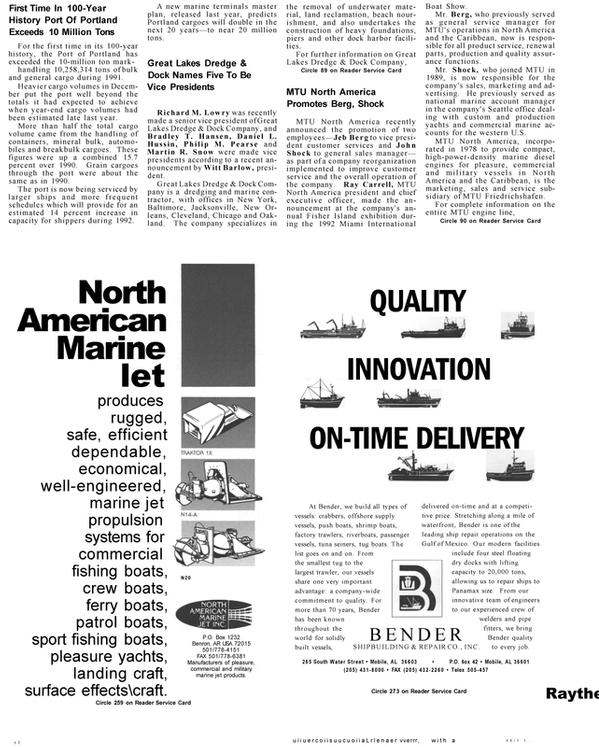 Maritime Reporter Magazine, page 85,  Mar 1992