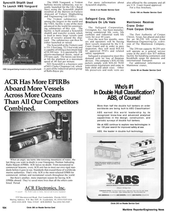 Maritime Reporter Magazine, page 8,  Apr 1992