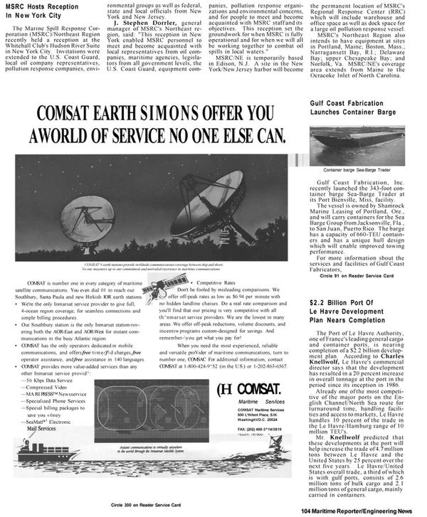 Maritime Reporter Magazine, page 10,  Apr 1992