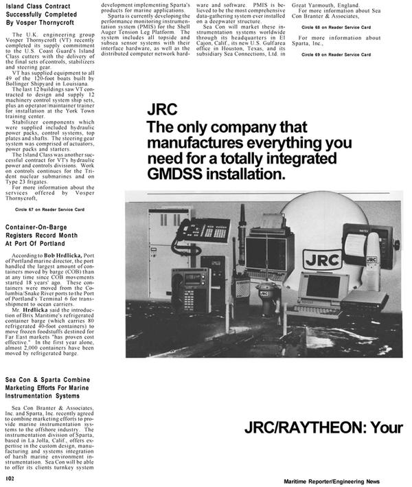 Maritime Reporter Magazine, page 12,  Apr 1992 Texas