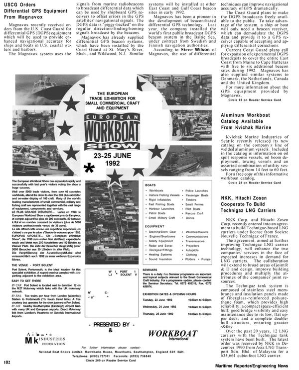 Maritime Reporter Magazine, page 30,  Apr 1992 Gulf coast