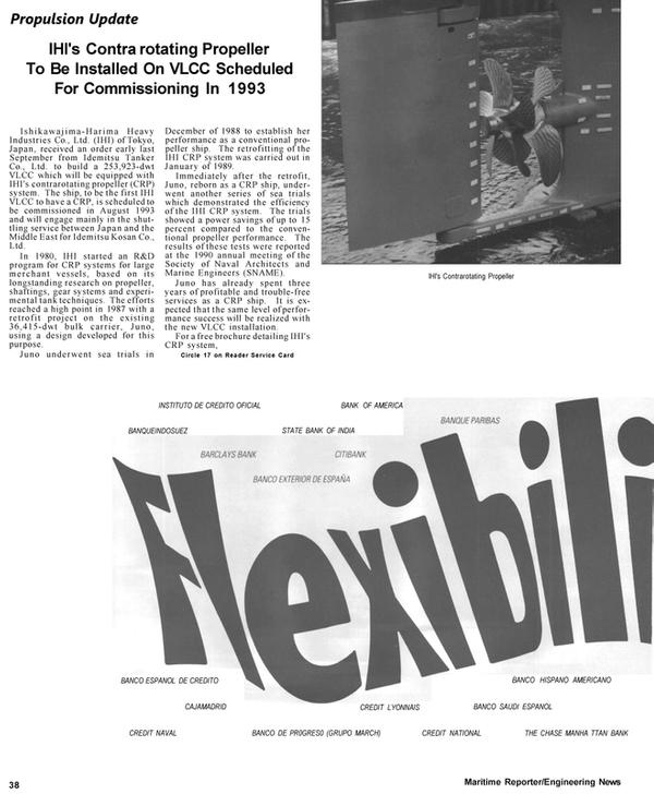 Maritime Reporter Magazine, page 40,  Apr 1992 bulk carrier