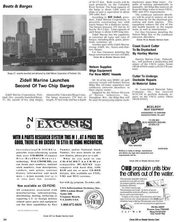 Maritime Reporter Magazine, page 56,  Apr 1992 Virginia