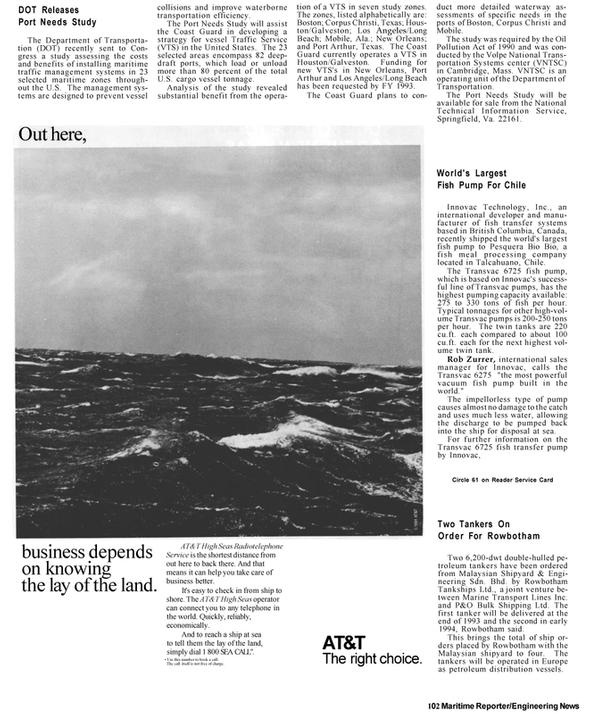 Maritime Reporter Magazine, page 61,  Apr 1992 Alabama