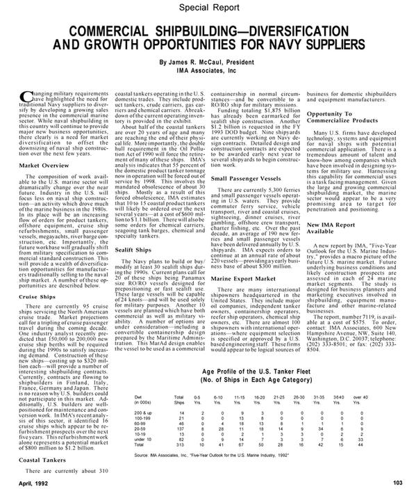 Maritime Reporter Magazine, page 72,  Apr 1992