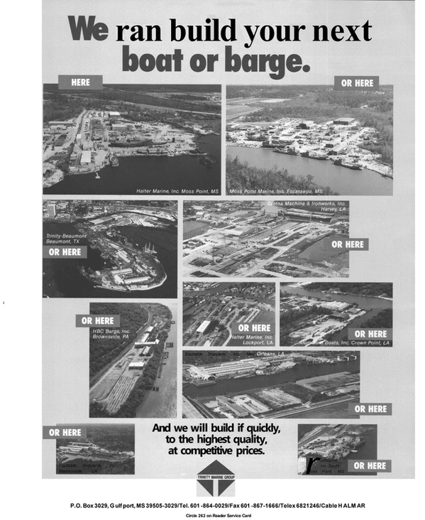 Maritime Reporter Magazine, page 74,  Apr 1992 Equitable Shipyards Inc.