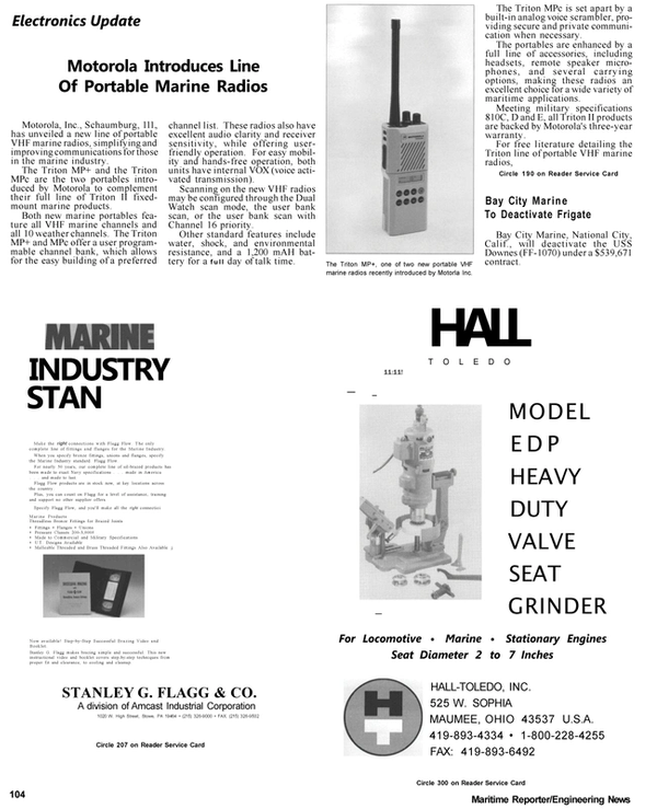 Maritime Reporter Magazine, page 77,  Apr 1992 Pennsylvania