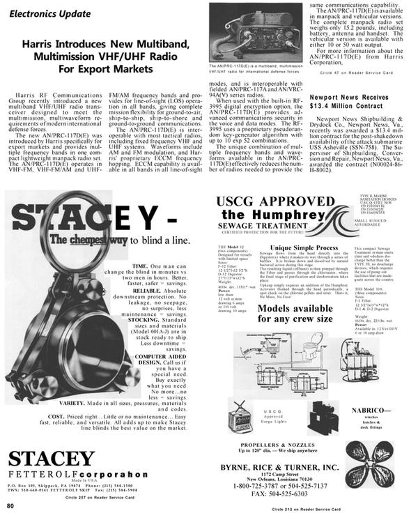 Maritime Reporter Magazine, page 83,  Apr 1992
