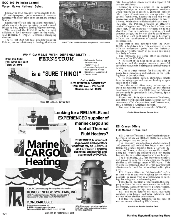 Maritime Reporter Magazine, page 87,  Apr 1992 Biscayne Bay