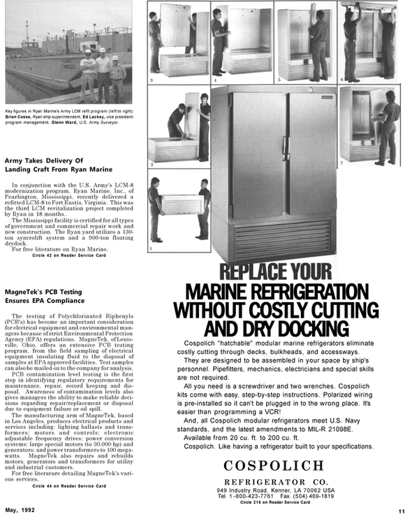 Maritime Reporter Magazine, page 9,  May 1992