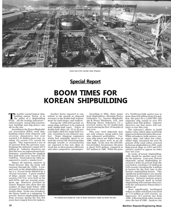 Maritime Reporter Magazine, page 30,  May 1992