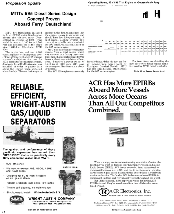 Maritime Reporter Magazine, page 34,  May 1992